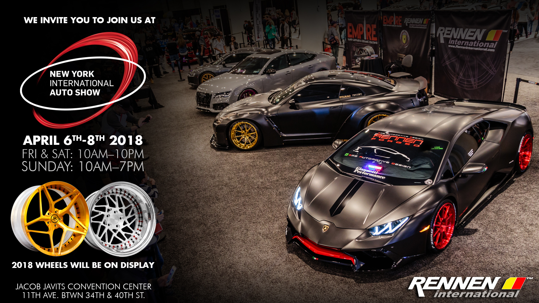 Join Us At The New York International Auto Show April Thth - Jacob javits center car show 2018